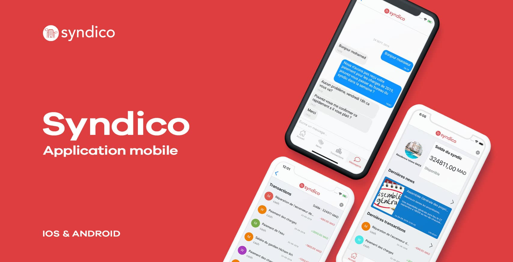 L'application mobile IOS et Android pour syndico par webdeclic